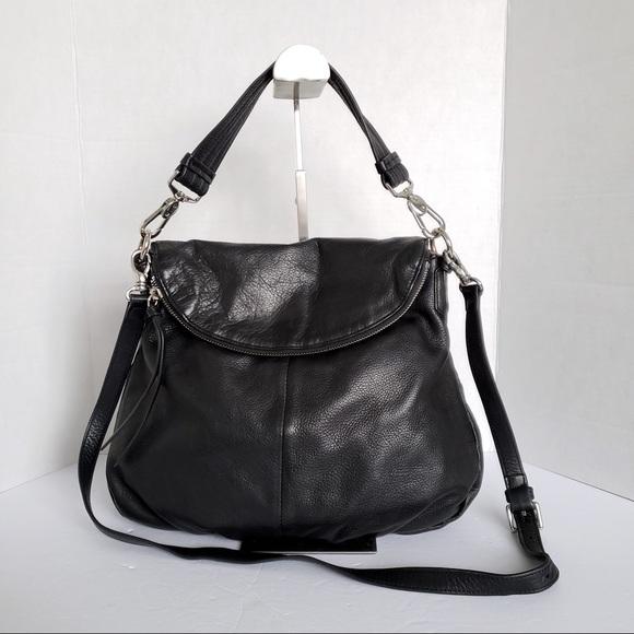 Margot 2 way leather satchel crossbody